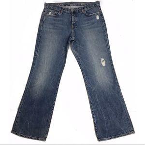 J. Crew • Distressed Boyfriend Jeans Size 33 EUC